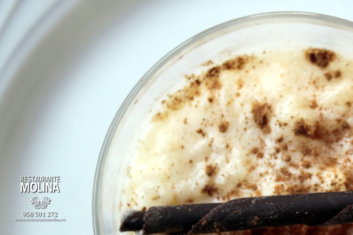 Arroz con leche en Restaurante Molina