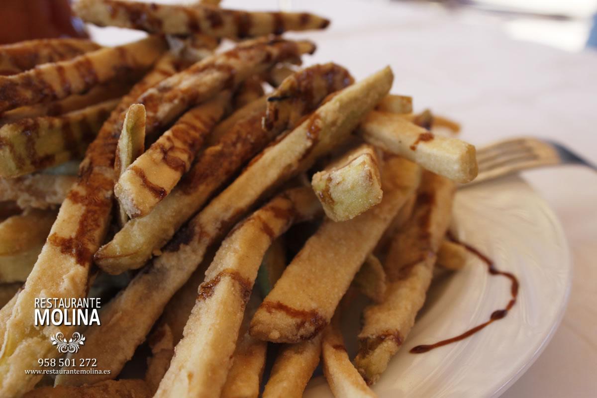 Berenjenas con miel de caña en Restaurante Molina