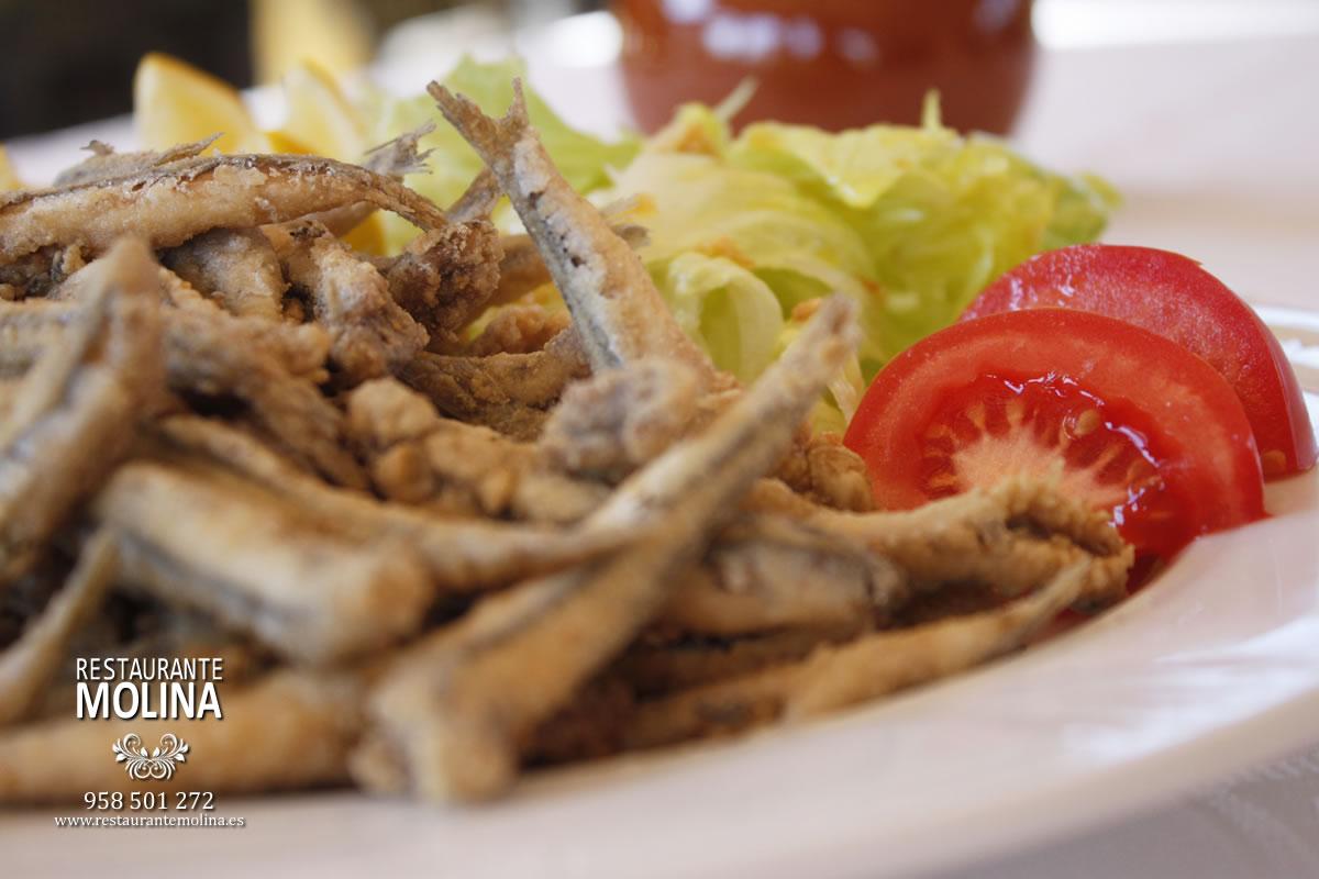Boquerones fritos en Restaurante Molina