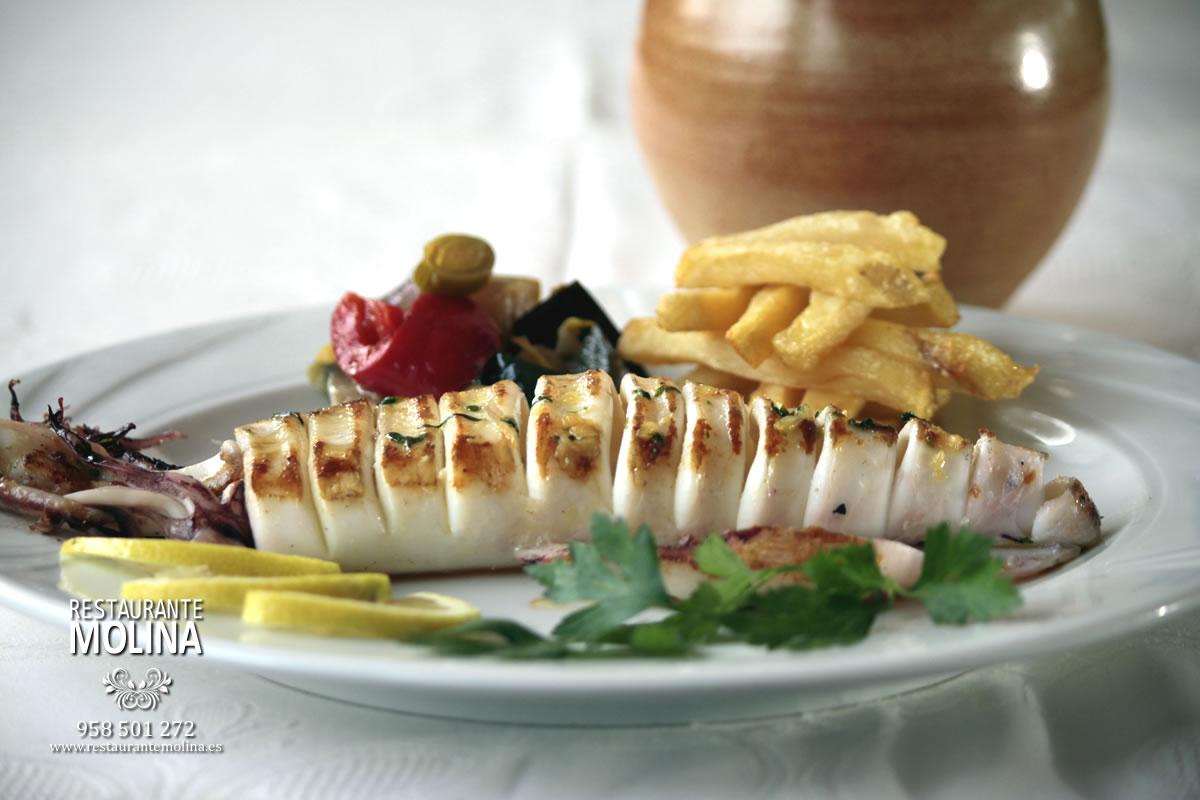 Calamar a la plancha en Restaurante Molina