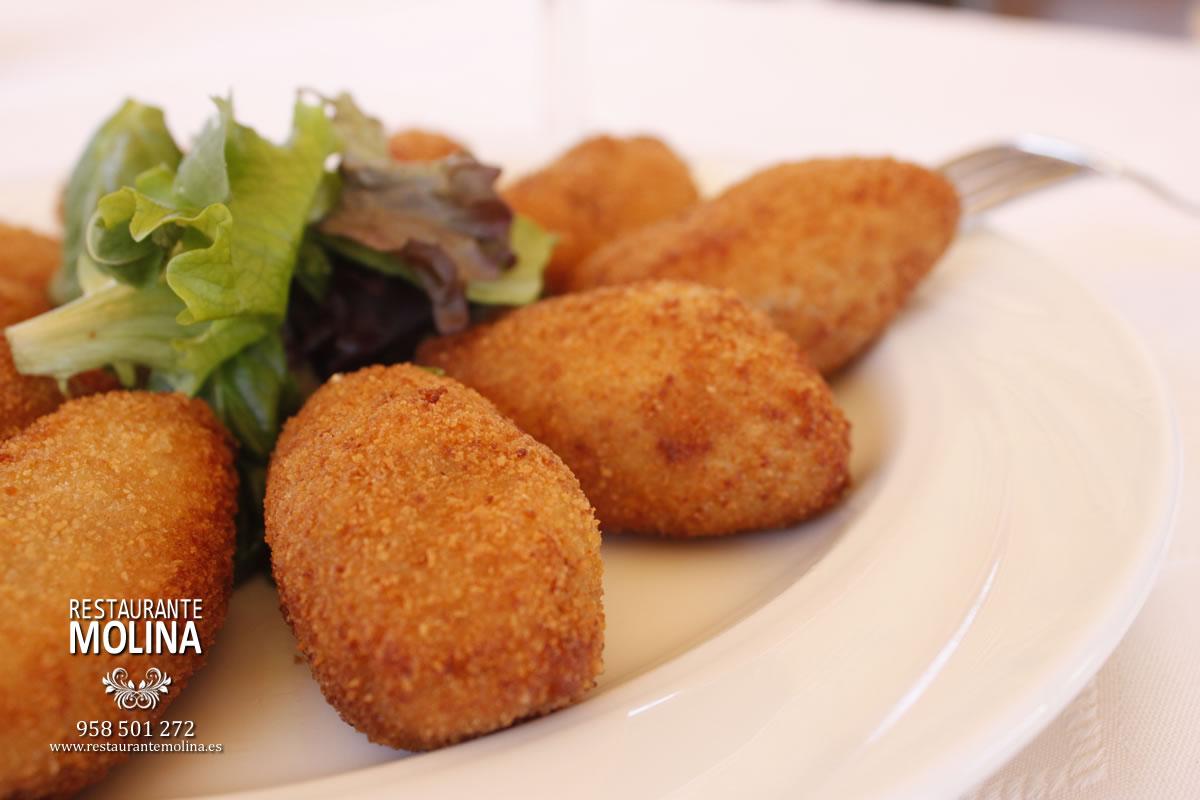 Croquetas caseras en Restaurante Molina