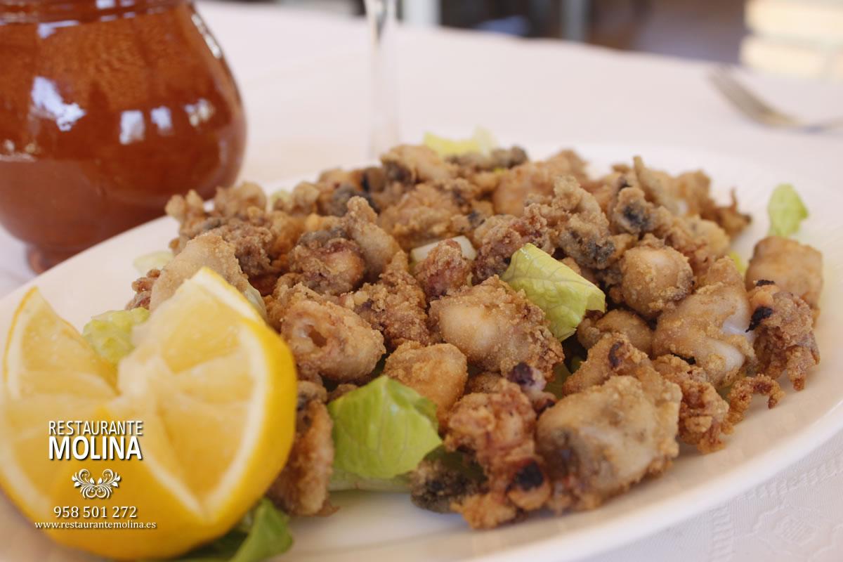 Puntitas de calamar en Restaurante Molina