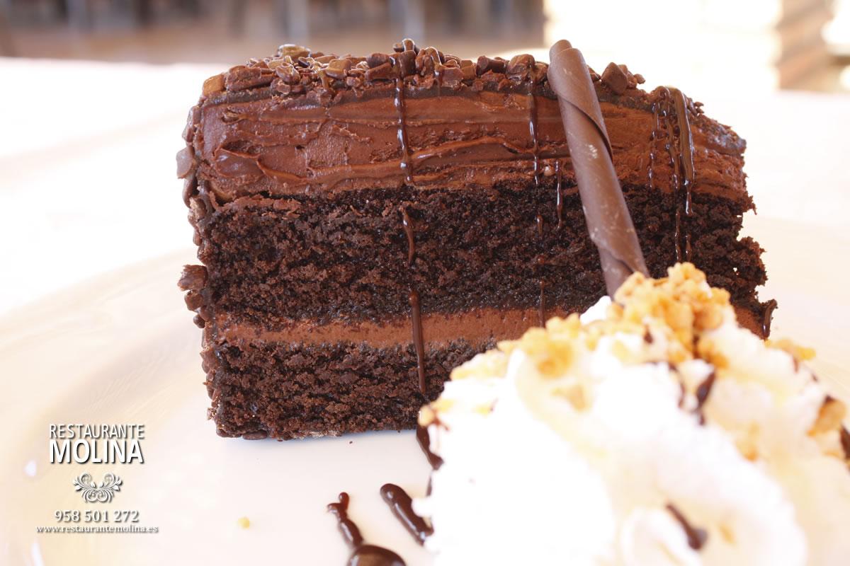 Tarta de chocolate en Restaurante Molina