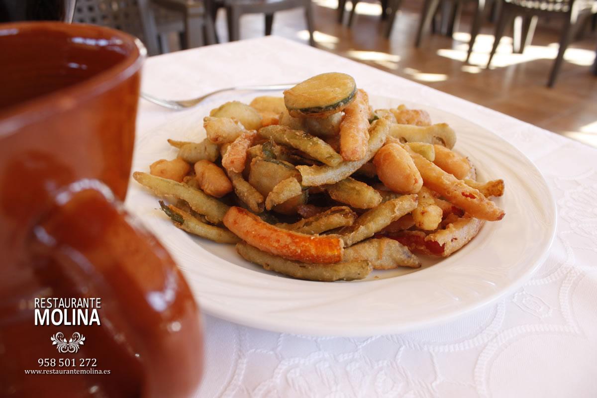 Verduritas en témpura en Restaurante Molina