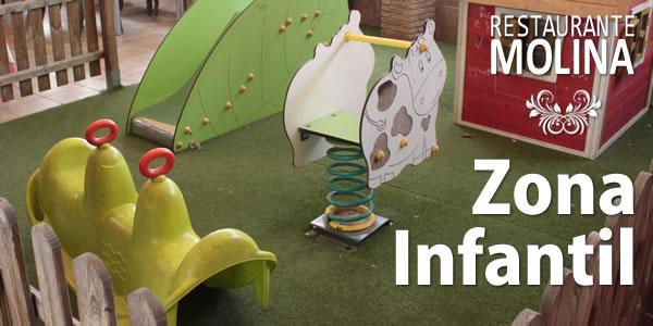 Zona de juegos infantil en Restaurante Molina