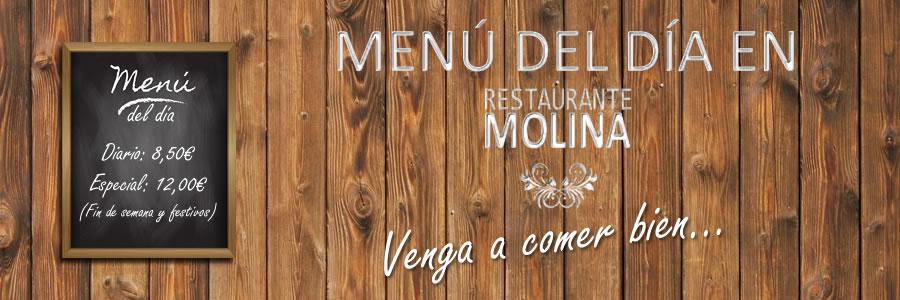 Menú del día Restaurante Molina